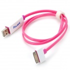 MFi Power4 Charge Sync Cable w/ Visible Flowing Current for IPAD / IPHONE / IPOD - Deep Pink + White