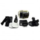 "KDF28B Waterproof 1.5"" LCD 1080P H.264 5.0 MP CMOS Sport Diving DVR Camcorder - Black"
