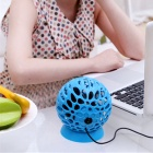 USB Powered Mini Ball Desktop 4-Blade Fan - Blue
