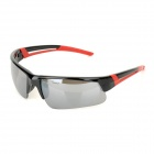 Outdoor Sports UV400 Protection PC Sunglasses - Black + Red