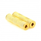 DJ 02 3.5mm Female to 3.5mm Female Audio Adapters - Golden (2 PCS)