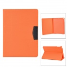 Protective Flip Open PU Case w/ Stand / Auto Sleep for IPAD AIR - Orange + Black