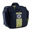 Water Resistant Oxford Camera Bag for SLR - Black + Green