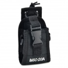 MSC-20A Universal Nylon Adjustable Shoulder / Strap / Waist Bag for Walkie Talkie - Black + White