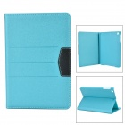 Protective Flip Open PU Case w/ Stand / Auto Sleep for Retina IPAD MINI - Blue