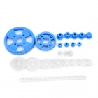 C-232 23-in-1 Plastic DIY Motor Gear Set - White + Deep Blue