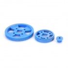 C-232-23-in-1 Kunststof DIY Motor Gear Set - Wit + Deep Blue