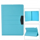 Stylish Protective Flip Open PU Case w/ Stand / Auto Sleep for IPAD AIR - Blue + Black