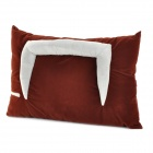 Flocking Fabric Cushion Holder for IPAD AIR / IPAD 1 / 2 / 3 - Brown + Silver