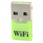 S-What Mini Portable 150Mbps USB Wireless Wi-Fi Access Point Adapter - Grass Green