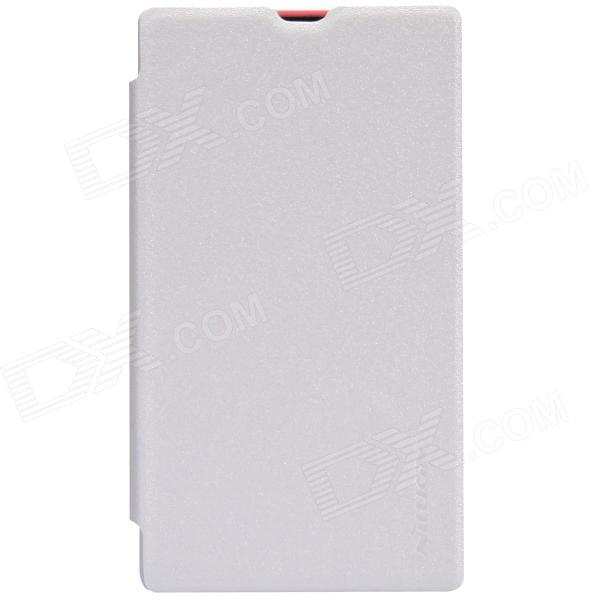 NILLKIN Protective PU Leather + PC Case Cover for Nokia X - White nokia x 1 в одессе