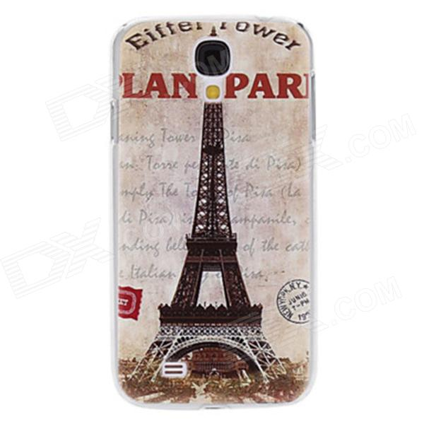 Kinston Vintage Eiffel Tower Pattern Protective Plastic Back Case for Samsung Galaxy S4 i9500 -Brown protective cute spots pattern back case for samsung galaxy s4 i9500 multicolored