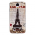 Kinston Vintage Eiffel Tower Pattern Protective Plastic Back Case for Samsung Galaxy S4 i9500 -Brown