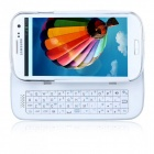 Wireless Bluetooth Sliding Backlit 50-Key Keyboard for Samsung Galaxy S4 i9500 - White