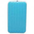 Gepäck Design Universal 8800mAh Dual USB Mobile Power Quelle-Bank für iPhone + More - Weiß + Blau