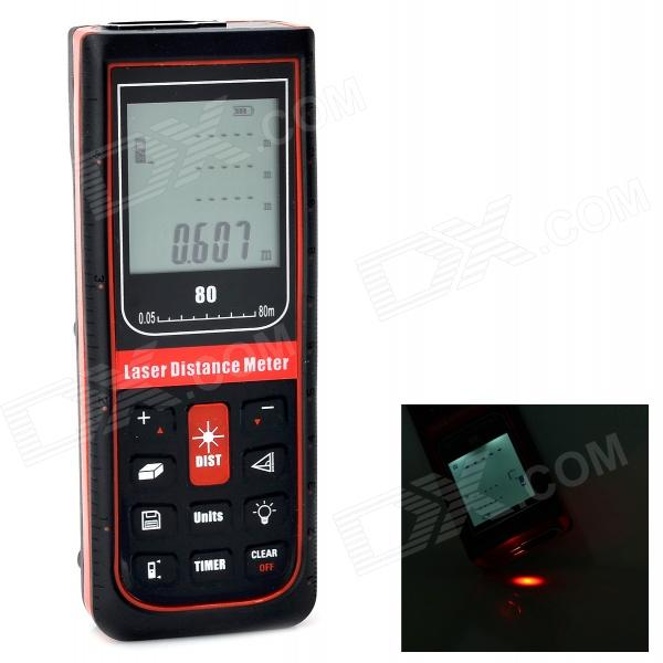 G80 Handheld Waterproof 1.9 Display 80m Laser Distance Meter - Dark red + Black (2 x AA) утюг scarlett sc si30k22 белый синий