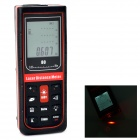 "G80 Handheld Waterproof 1.9"" Display 80m Laser Distance Meter - Dark red + Black (2 x AA)"