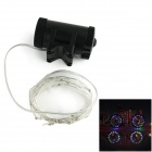 Waterproof Decorative 2-Mode Flexible Colorful LED Light Strip Warning Lamp for Bicycle (3 x AA)
