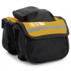 BOI 12850 Outdoor Cycling Polyester Bike Top Tube Double-Bag - Black + Yellow