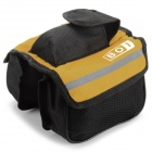 BOI 12850 Outdoor Ciclismo Poliéster Bike Top Tube Doble-Bag - Negro + Amarillo