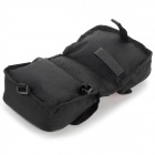 BOI 12850 ciclo al aire libre de poliéster Bike Top Tube Doble-Bag - Negro + Rojo