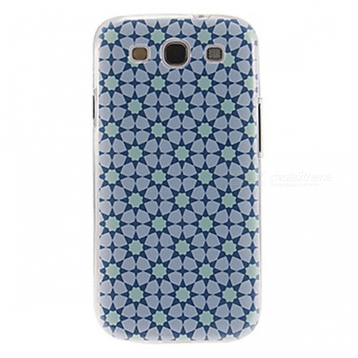 Kinston Rhombus Pattern Protective Plastic Back Case for Samsung Galaxy S3 i9300 - White + Black стоимость