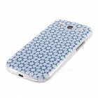 Kinston Rhombus Pattern Protective Plastic Back Case for Samsung Galaxy S3 i9300 - White + Black