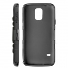 Hybrid 3 in 1 Protective PC Plastic Case with Stand for Samsung Galaxy S5 - Black