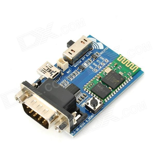 HC-05 Bluetooth V2.1 + EDR to RS232 Serial Adapter / Expansion Board / Communication Module rs232 to rs485 interface communication connector serial port converter driver grey green