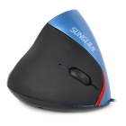 SUNGI ST-012 USB Wired 1200dpi Ergonomic Vertical LED Mouse - Blue + Black