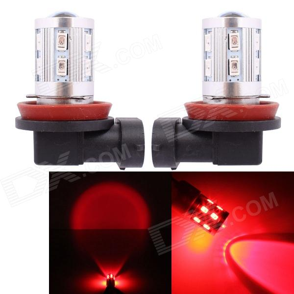 MZ H8 11W 12-SMD 5630 + 1-LED Red Light Car Brake / Tail / Signal / Indicator Lamp (2 PCS)