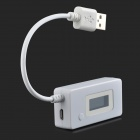USB Current Voltage Battery Capacity Tester - White