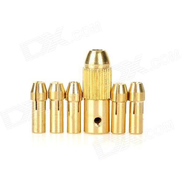 WLXY WL-DIY001 Copper Twist Drill Bit Collet Set - Golden + Yellow