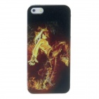 Kinston Fire Is The Street Dance Pattern Protective Plastic Hard Back Case for IPHONE 5 / 5S - Black