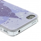 Kinston Purple Christmas Tree Pattern Protector Matte PC Hard Back Case para IPHONE 4 / 4S - Branco