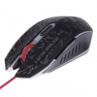 Baodi G9 USB Wired Desktop Notebook Computer Backlight Luminous Gaming Mouse - Black