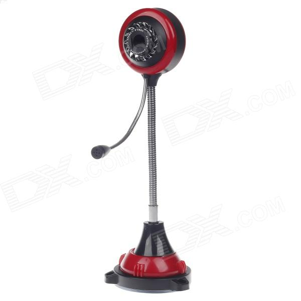 SHITIANXIA Hot Wheel Style 3.0 MP USB Digital Computer / Laptop Web Camera w/ Microphone - Black