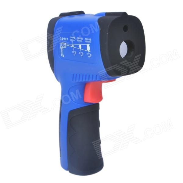 FLUS IR-863 Professional Infrared Thermometer - Blue + Black (1 x 9V / Max. 1150'C) ir 801 1 2 led mini wireless handheld infrared laser thermometer black blue 1 x 9v