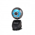 BLUELOVER W9 Free Drive USB HD 1.0 MP Night Vision Camera w/ Microphone - Black + Blue