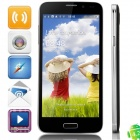 "S5000 MTK6582 Quad-Core Android 4.2.2 WCDMA Bar Phone w/ 5.0"" OGS QHD, Wi-Fi and GPS - Grey + Black"