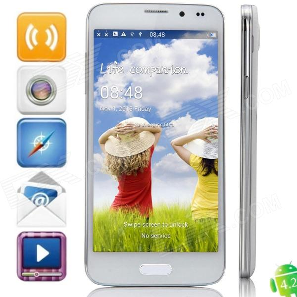 S5000 MTK6582 Quad-Core Android 4.2.2 WCDMA Bar Phone w/ 5.0″ OGS QHD, Wi-Fi and GPS – White