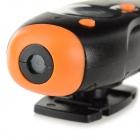"TC30 0,8"" TFT CMOS 1.3MP vanntett Mini DV-kameraet med TF / AVI / USB - Black + Golden Orange"