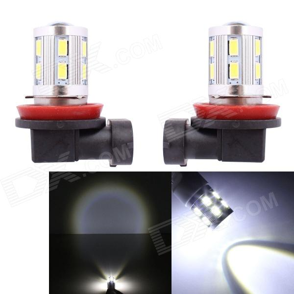 MZ H8 11W 12-SMD 5630 + 1-LED White Light Car Backup / Signal / Indicator Lamp (2 PCS / 12V)