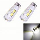 MZ T10 5W 450lm 10-SMD 5630 LED Error Free Canbus White Light Car Clearance Lamps (DC 12V / 2 PCS)
