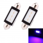 MZ Festoon 42 milímetros 3W 240lm COB LED Blue Light Car Reading / Lâmpada Matrícula (12V / 2 PCS)