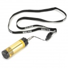 Glo-Toob GTL-A LED 20lm 11-Mode Memory Yellow Light Waterproof Signal Lamp - Gold (1 x CR123A)