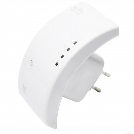 WN518N5 2.4G 802.11a/b/g/n 300Mbps Wireless Wi-Fi AP Repeater - White (AC 100-240V / EU Plug)
