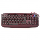 Langtu L3 USB Wired 105-Key Gaming Keyboard - Black + Red (173cm-Cable)