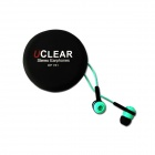 UCLEAR EP781 In-Ear Stereo Earphones w/ Microphone - Light Green + Black (3.5mm Plug / 120cm-Cable)
