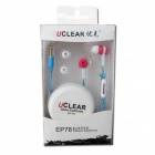 UCLEAR EP781 In-Ear Stereo Earphone w/ Microphone - Sky Blue + White (3.5mm Plug / 120cm-Cable)